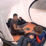 детски лагерь проживание в палатках