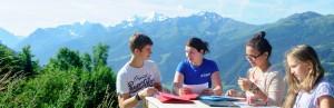 Летний лагерь в горах в Швейцарии