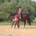 zirgu jasanas nometne